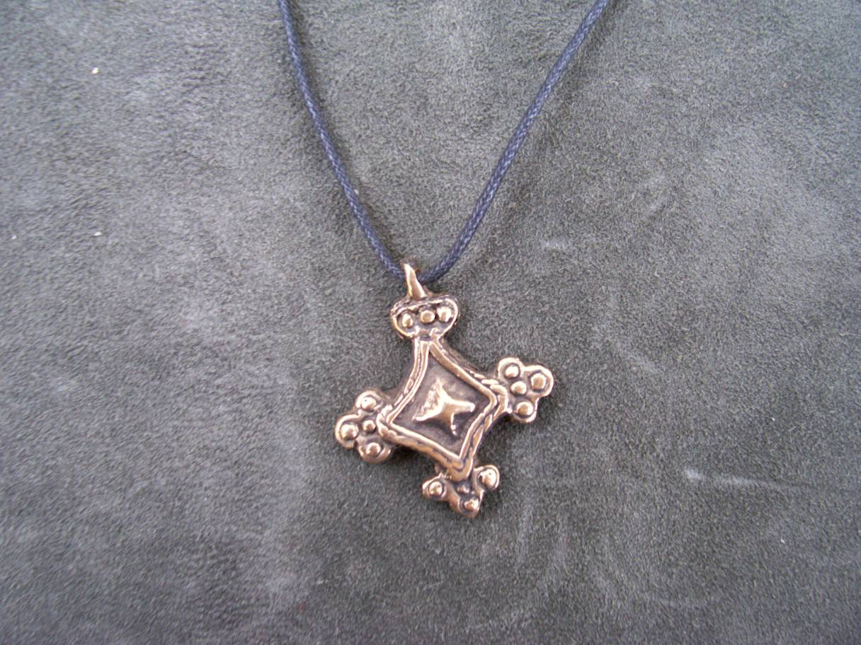Cross pendant out of bronze slavic cross pendant out of bronze mozeypictures Images