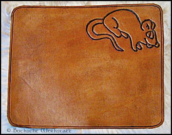 Leather Mousepad - cheeky mouse