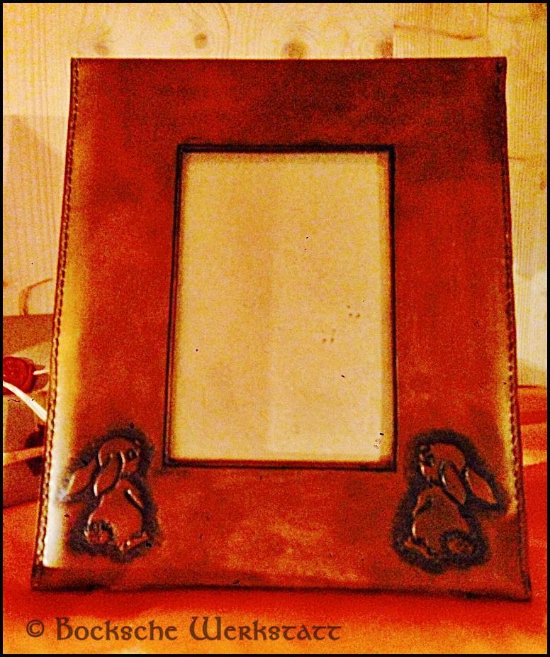 Picture frame in leather - Rabbit